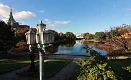 Wade Lagoon famoso en círculo de la universidad del ` s de Cleveland Foto de archivo libre de regalías