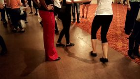 WADF academy workshop. MOSCOW - MARCH 19: People learn dance at  WADF academy workshop, organized by World Dance Artistic Federation on March 19, 2016, in Moscow stock footage