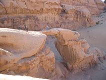 wadi ρουμιού βράχου σχηματισμών Στοκ φωτογραφίες με δικαίωμα ελεύθερης χρήσης