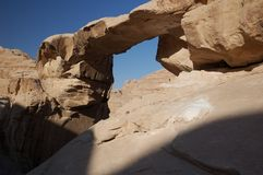 wadi ρουμιού της Ιορδανίας Στοκ φωτογραφίες με δικαίωμα ελεύθερης χρήσης