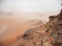 wadi ρουμιού της Ιορδανίας Στοκ Εικόνα