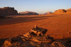 wadi ρουμιού της Ιορδανίας Στοκ Εικόνες