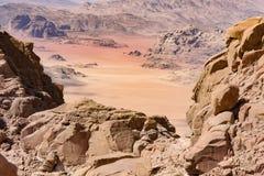 wadi ρουμιού της Ιορδανίας Στοκ εικόνα με δικαίωμα ελεύθερης χρήσης