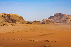 wadi ρουμιού της Ιορδανίας Στοκ φωτογραφία με δικαίωμα ελεύθερης χρήσης