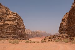wadi ρουμιού της Ιορδανίας &epsilo Στοκ εικόνες με δικαίωμα ελεύθερης χρήσης