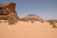 wadi ρουμιού της Ιορδανίας &epsilo Στοκ Εικόνα