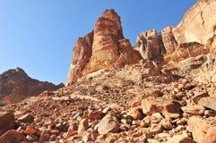 wadi ρουμιού της Ιορδανίας &epsilo Στοκ Εικόνες