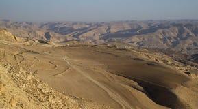 Wadi al Hasa Jordanien Arkivbild
