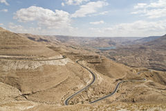 Wadi Al Mujib. In Jordan ,was called in the old testament with Arnun valley Stock Photography