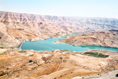 Wadi Al Mujib panoramic view royalty free stock image