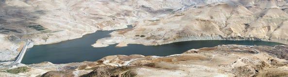 Wadi Al Mujib water dam Stock Image