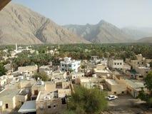 Wadi alla fortificazione di Nakhal fotografia stock libera da diritti
