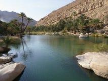 Wadi Bani Khalid. Ash Sharqiyah region, Oman Stock Image