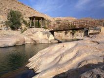 Wadi Bani Khalid. Morning in Wadi Bani Khalid, Oman Stock Photos