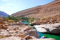 Wadi Bani Khalid, Omã imagens de stock royalty free