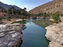 Wadi Bani Khalid, Oman Royalty-vrije Stock Afbeeldingen