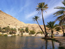 Wadi Bani Khalid. One of the most popular tourist destinations in Oman Stock Photography
