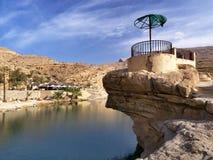 Wadi Bani Khalid. One of the most popular tourist destinations in Oman Stock Photo