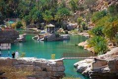 Wadi Bania Khalid, Oman Zdjęcia Royalty Free