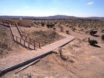 Wadi Dawkah, région de Dhofar, Sultanat d'Oman Photos stock