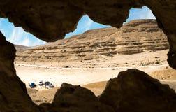 Wadi Degla Protectorate in Kaïro Egypte royalty-vrije stock afbeeldingen