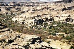 Wadi dhar. The landscape of the wadi dhar near sana in yemen Royalty Free Stock Photography