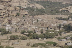Wadi Dhar. Village  in Yemen Royalty Free Stock Images