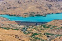 Wadi El Mujib Dam et lac, Jordanie Images stock