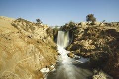 Wadi El-Rayan Waterfalls Stockbild