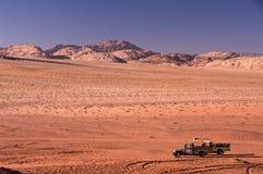 wadi för ökenjordan rom Arkivbilder