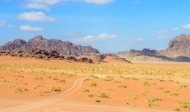 wadi för ökenjordan rom arkivfoto