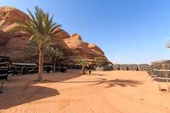 wadi för ökenjordan rom Arkivbild