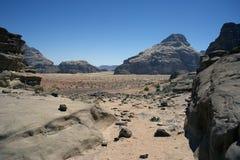 wadi för ökenromsikt Royaltyfri Fotografi