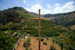 wadi för saint för elishaaklosterqadisha Royaltyfri Bild