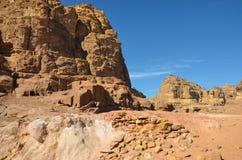 Wadi Farasa Trail, Petra Stock Afbeelding