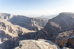Wadi Ghul in Oman Royalty Free Stock Photography