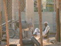 WADI - HALFA, DE SOEDAN - NOVEMBER 19, 2008: Het leven Soedanees. stock afbeeldingen