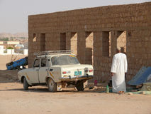 WADI - HALFA, SUDAN - NOVEMBER 19, 2008: Soviet car Moskvich 412 Stock Images