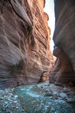 Wadi Hasa creek in Jordan Stock Photos