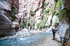 Wadi Hasa-kreek in Jordanië Royalty-vrije Stock Fotografie