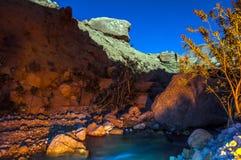 Wadi Hasa night landscape Stock Image