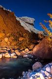 Wadi Hasa night landscape Royalty Free Stock Image