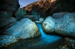 Wadi Hasa night landscape Royalty Free Stock Images