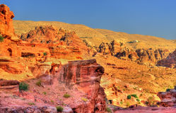 Wadi Jeihoon, the path to the Monastery El Deir in Petra Royalty Free Stock Photography