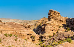 Wadi Jeihoon, the path to the Monastery El Deir at Petra Royalty Free Stock Photo