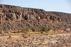 Wadi in Libya Royalty Free Stock Photo