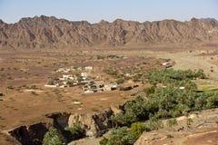 Wadi Madbah em Omã Foto de Stock