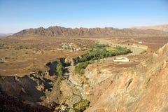 Wadi Madbah em Omã Fotos de Stock