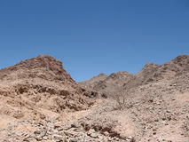 Wadi and mountains Royalty Free Stock Photography