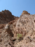 Wadi and mountains. Nice path between a mountains Royalty Free Stock Photos